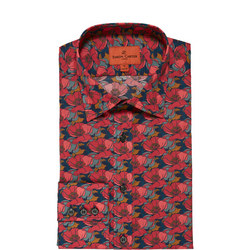 Poppy Print Single Cuff Shirt