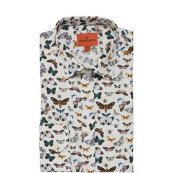 Butterfly Print Single Cuff Shirt