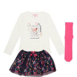 Girls Two-Piece Top & Skirt Set
