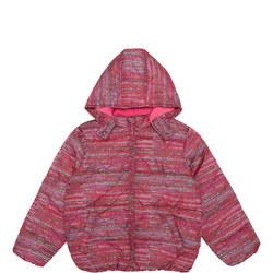 Girls Zig-Zag Print Coat