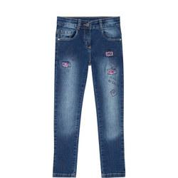 Girls Sequin Jeans