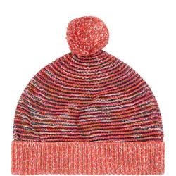 Girls Pom Pom Beanie Hat