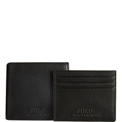 Pebbled Leather Wallet And Card Holder