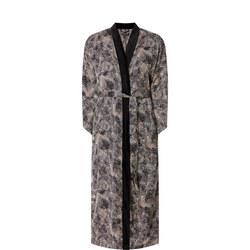 Elegant Print Robe