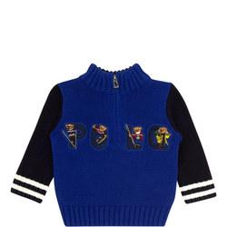 Babies Ski Bear Zip Sweater