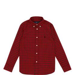 Boys Check Print Shirt
