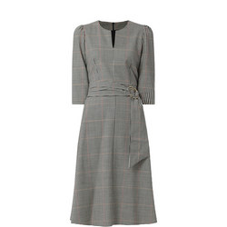 Amadeus Check Midi Dress
