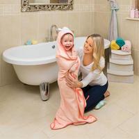 Lily the Lamb Bamboo Apron Baby Bath Towel