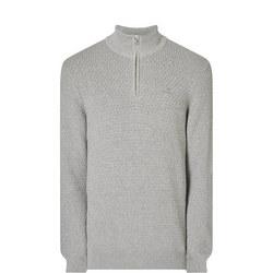 Honeycomb Half Zip Sweater