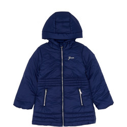 Girls Long Quilted Coat