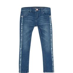 Girls Skinny Logo Jeans