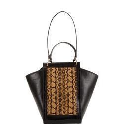 Madelaine Crocodile-Embossed Shoulder Bag
