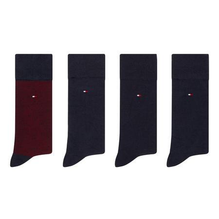 Four-Pack Dot and Plain Socks