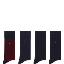 Four-Pack Dot and Plain Socks