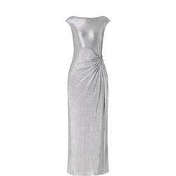 Metallic Sleeveless Gown
