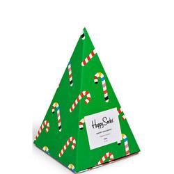Kids Three-Pack Happy Holidays Socks