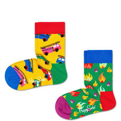 Babies Two-Pack On Fire Socks