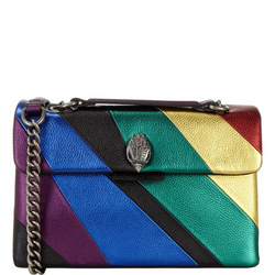 Kensington Metallic Stripe Small Shoulder Bag
