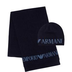 Printed Hat & Scarf