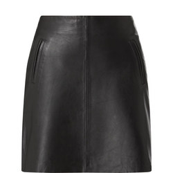 Nina Leather Mini Skirt