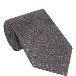 Large Paisley Silk Tie