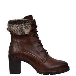 Faux Fur Trim Lace-Up Boot
