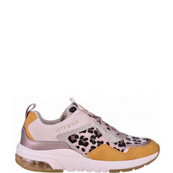 Animal Print Lace-Up Trainers