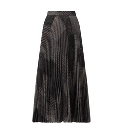 Vanetta Patch Pleated Skirt