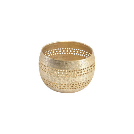 Amaya Champagne Textured Votive Holder