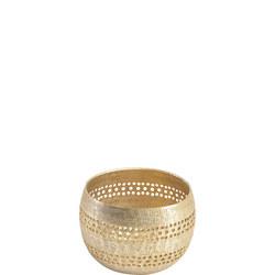 Amaya Champagne Textured Votive Holder