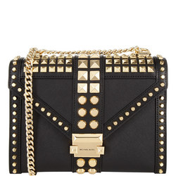 Whitney Studded Large Shoulder Bag