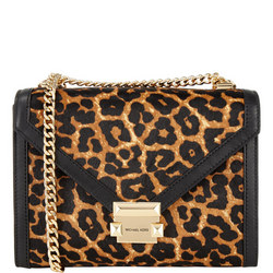 Whitney Leopard Print Large Shoulder Bag