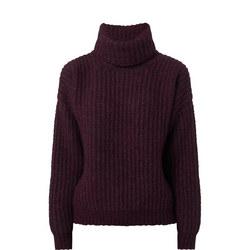 Boxy Roll Neck Sweater