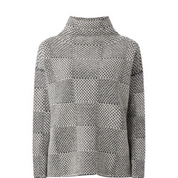Square High Neck Sweater