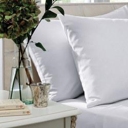 200 Thread Count Cotton Percale Oxford Pillowcase Pair White