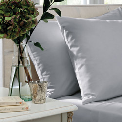 200 Thread Count Cotton Percale Fitted Sheet Grey