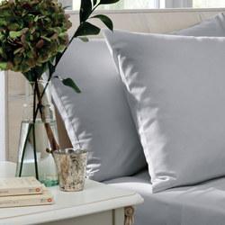 200 Thread Count Cotton Percale Oxford Pillowcase Pair Grey