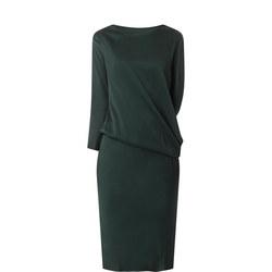 Draped Sleeve Dress