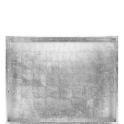 Rectangular Lacquer Tray Silver