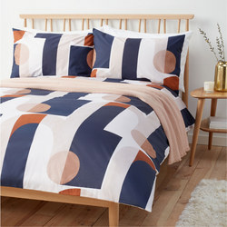 Arcade Arch  Duvet Cover Set Navy