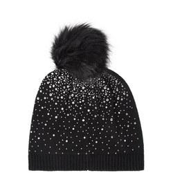 Diamante Pom Pom Hat