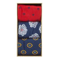 Three-Pack Floral Print Socks