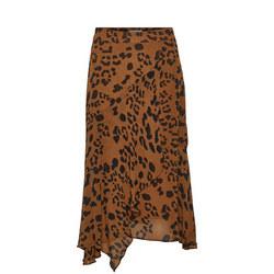Rafaela Animal Print Midi Skirt