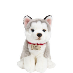 Plush Puppy Floppy Husky 10 Inches