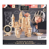 Solid Wood Castle Blocks 75 Pieces