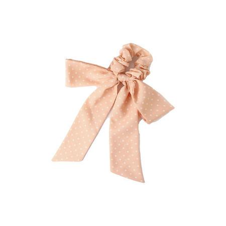 Polka Bow Scrunchie