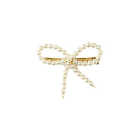 Faux Pearl Bow Clip