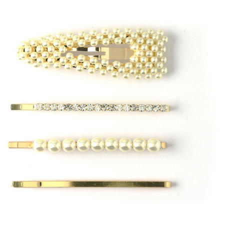 Four-Pack Faux Pearl Clips