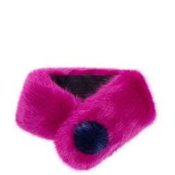 Pom Button Collar