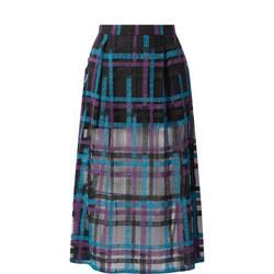 Multi Stripe Mesh Skirt
